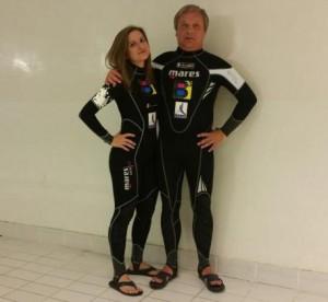 Foto tratta da Ansa, l'atleta con la figlia