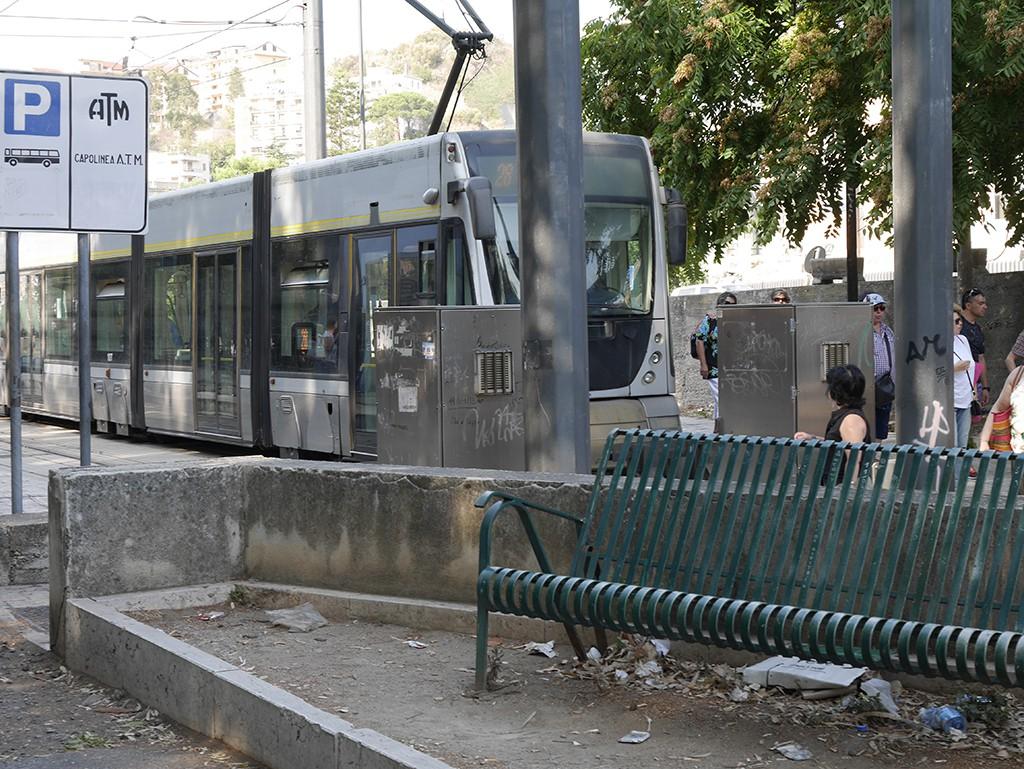 Foto del capolinea del tram, fermata Annunziata