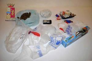 Foto della droga sequestrata a Silvio Stracuzzi
