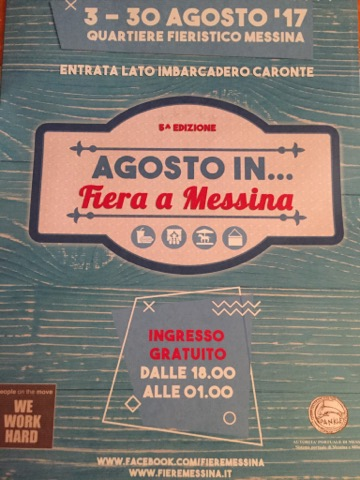 Locandina evento - Agosto in...fiera a Messina - 2017