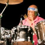 Foto dell'assolo di batteria di Billy Cobham - Serata conclusiva Castroreale Milazzo Jazz Fest 2017