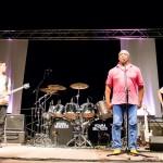 Foto di Billy Cobham sul palco - Serata conclusiva Castroreale Milazzo Jazz Fest 2017