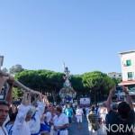 Corde alzate e tiratori pronti alla partenza della Vara - Messina