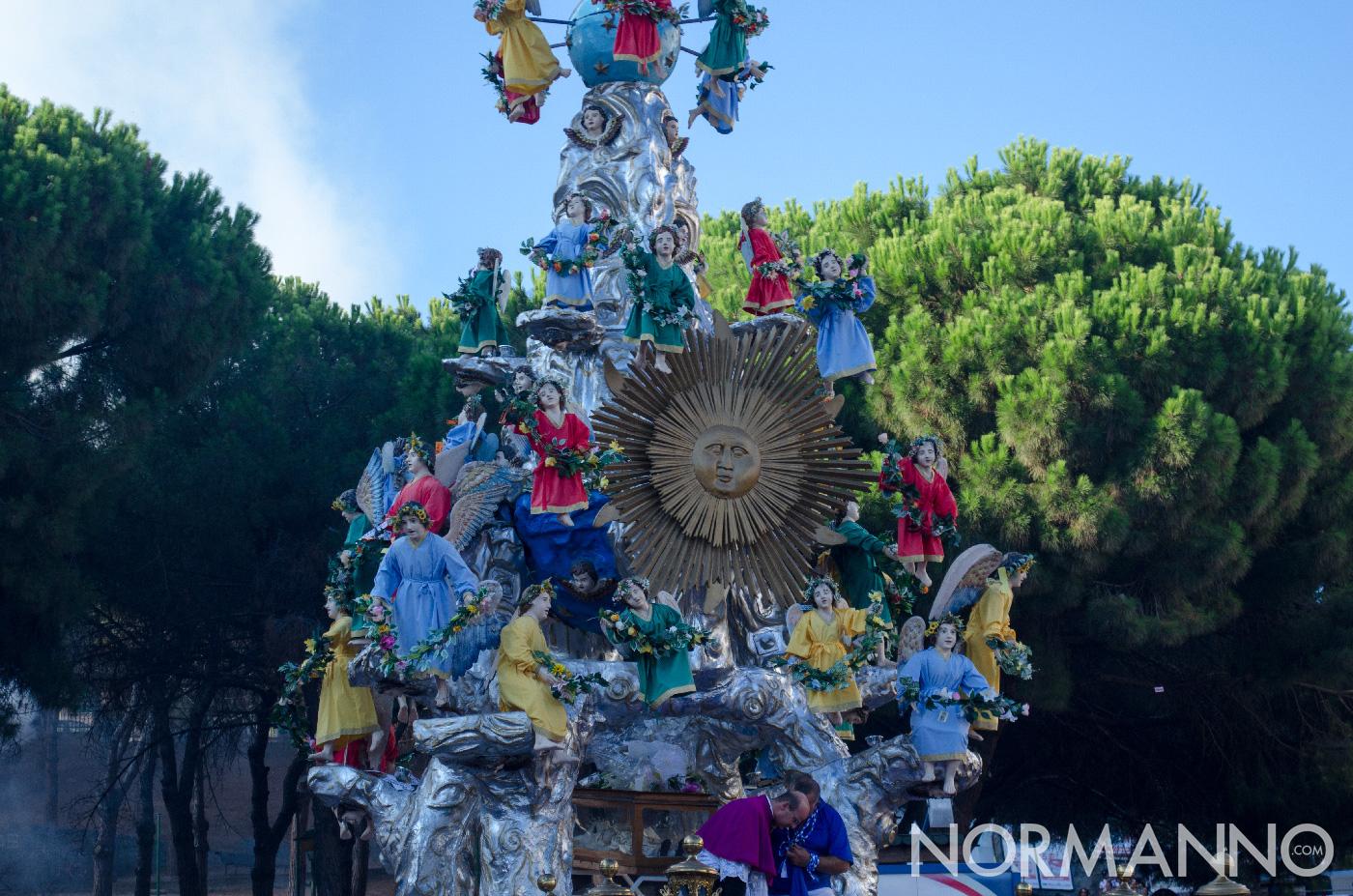 Dettaglio del sole e degli angeli Vara - Messina