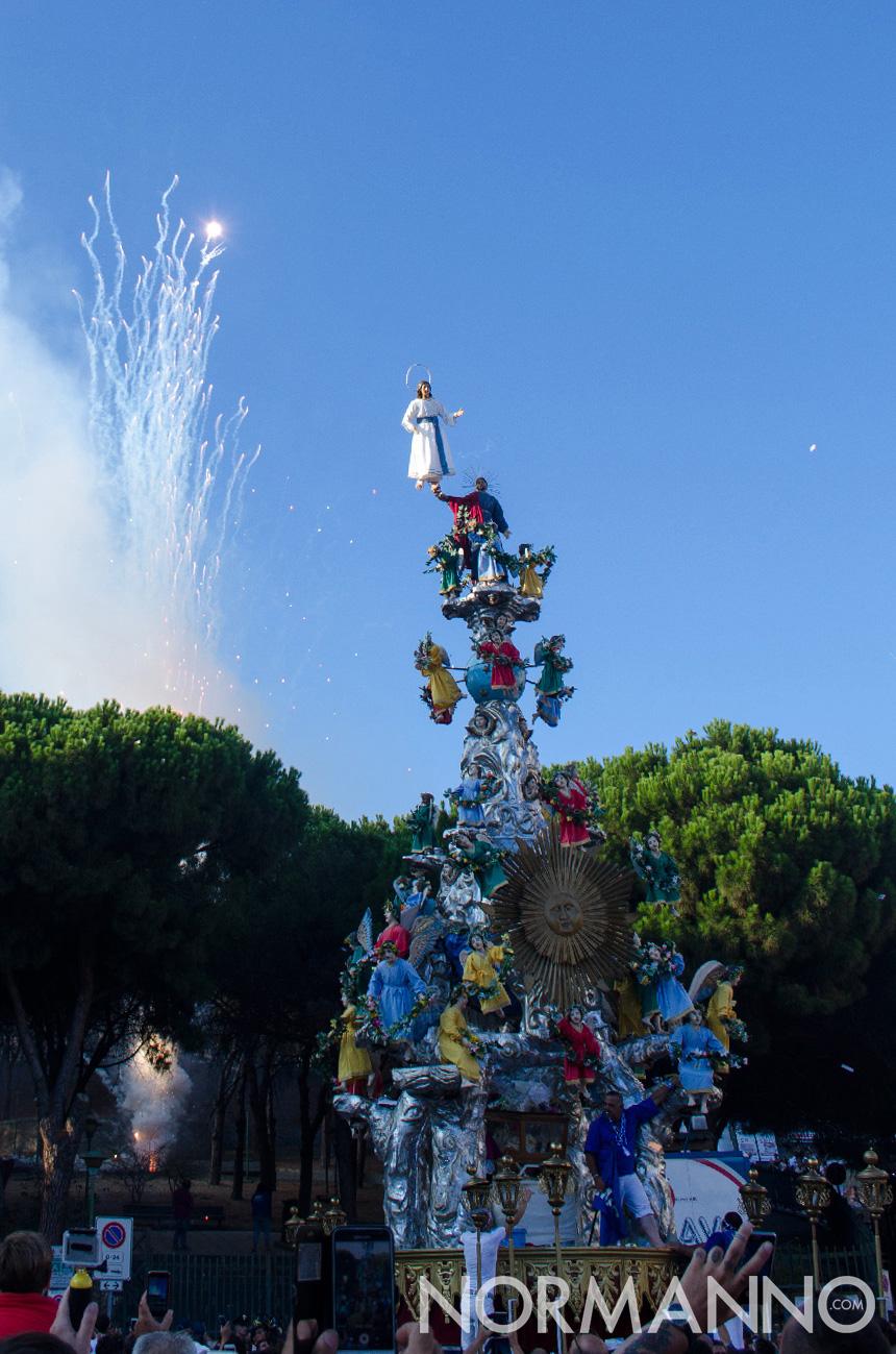 Fuochi d'artificio per la partenza della Vara - Messina