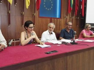 Sebastiano Pino, Nina Santisi, Sergio De Cola alla conferenza stampa del Progetto Capacity