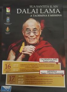 Locandina Dalai Lama a Messina