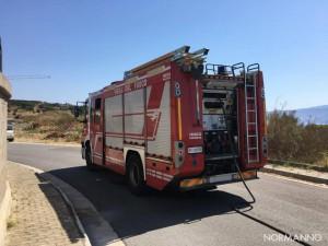 Foto veicolo Vigili del Fuoco - Incendio dipartimento di Ingegneria - Messina