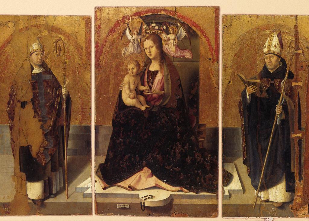 Foto parziale del Polittico di San Gregorio, nota opera di Antonello da Messina