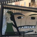 Foto pensilina del tram vandalizzata - Distrart Messina
