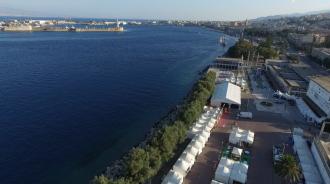 Fiera e porto di Messina - Vista dall'alto