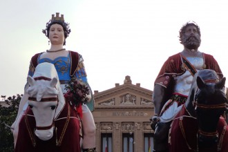 Foto dei Giganti leggendari fondatori di Messina - Mata e Grifone