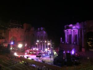 Foto palco concerto Daniele Silvestri - Teatro Antico di Taormina