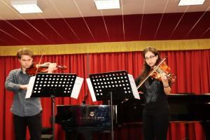 Foto di due musicisti del Conservatorio A. Corelli di Messina