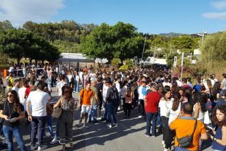 Foto dei candidati dei test di ammissione per l'università di Messina