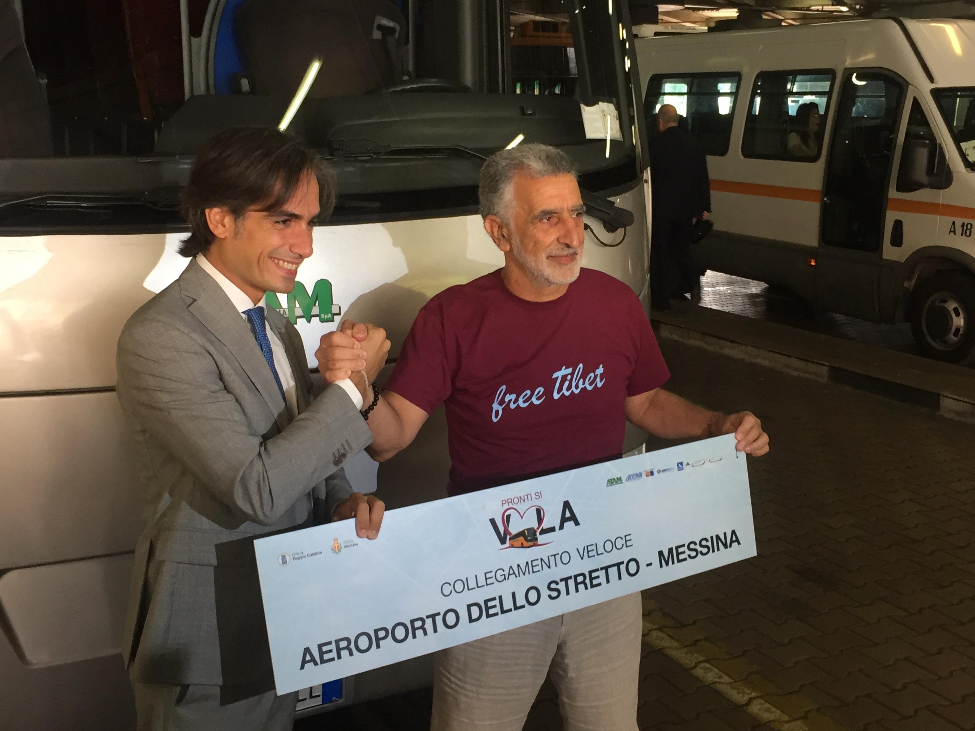 Un autobus collegherà Messina all'aeroporto di Reggio Calabria