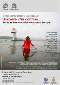 locandina Da tutta Europa a Messina per riflettere come le donne raccontano l'esilio