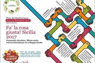 Volantino di Fa' la cosa giusta! Sicilia, fiera del consumo critico