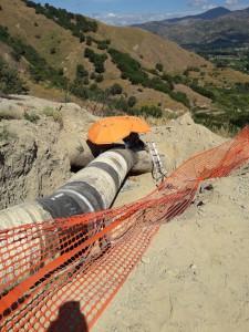 Foto dei lavori all'acquedotto Fiumefreddo nella condotta di Calatabiano - Amam