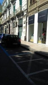 Foto della ZTL di Messina priva di segnaletica verticale