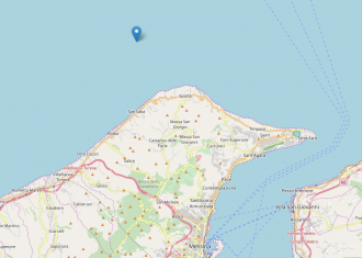 Openstreetmap - Terremoto magnitudo 3.1 - Calamona, Messina