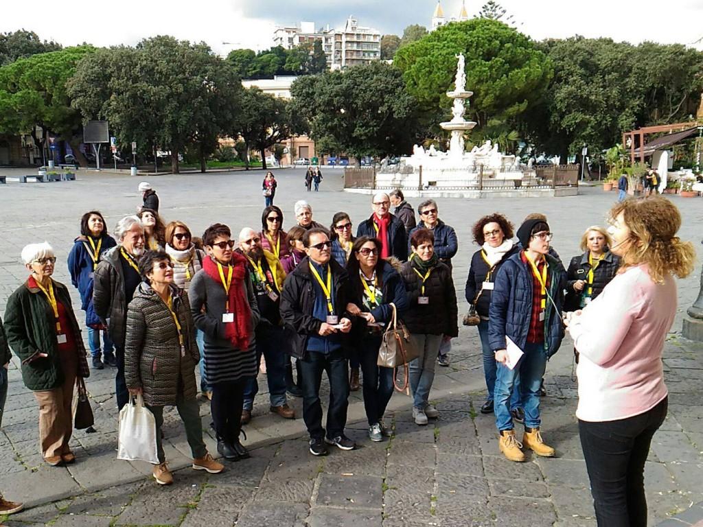 Foto di Messina città che parla, Piazza Duomo e prof. Mariateresa Zagone