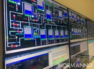 Foto della stanza telemetria di AMAM - Messina