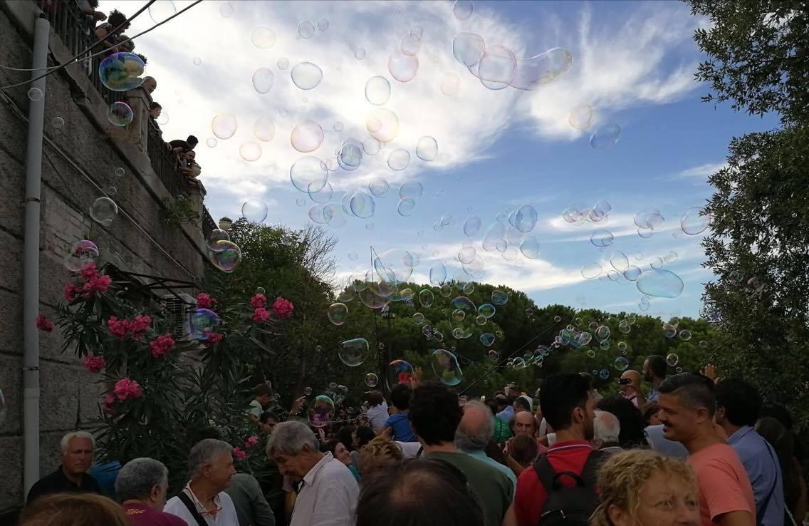 momento inaugurazione giardino di montalto