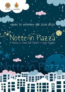 Locandina grande della Notte in Piazza di Piazza Lo Sardo e Largo Seggiola - Messina