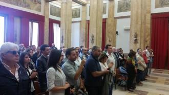 Foto del convegno del Movimento 5 stelle contro la mafia
