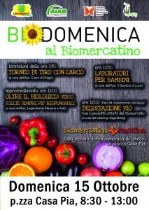 Locandina della Biodomenica 2017 - Legambiente e Aiab Sicilia - Messina