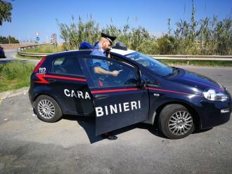Foto di un'auto dei Carabinieri di San Pier Niceto