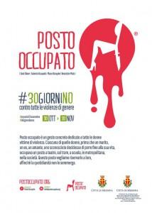 Locandina evento #30giorniNo #ConMe - Un posto occupato