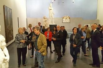 Visita durante l'inaugurazione di un tabernacolo restaurato al Museo regionale interdisciplinare di messina - MuMe