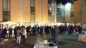 L'allestimento esterno per la cena di inaugurazione del tabernacolo al museo regionale interdisciplinare di messina