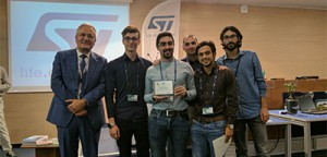 Foto del Team premiato all'ST Open Day di Catania