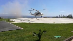 Foto dell'eliporto di Taormina per il G7 - Diritti di agenparl_com