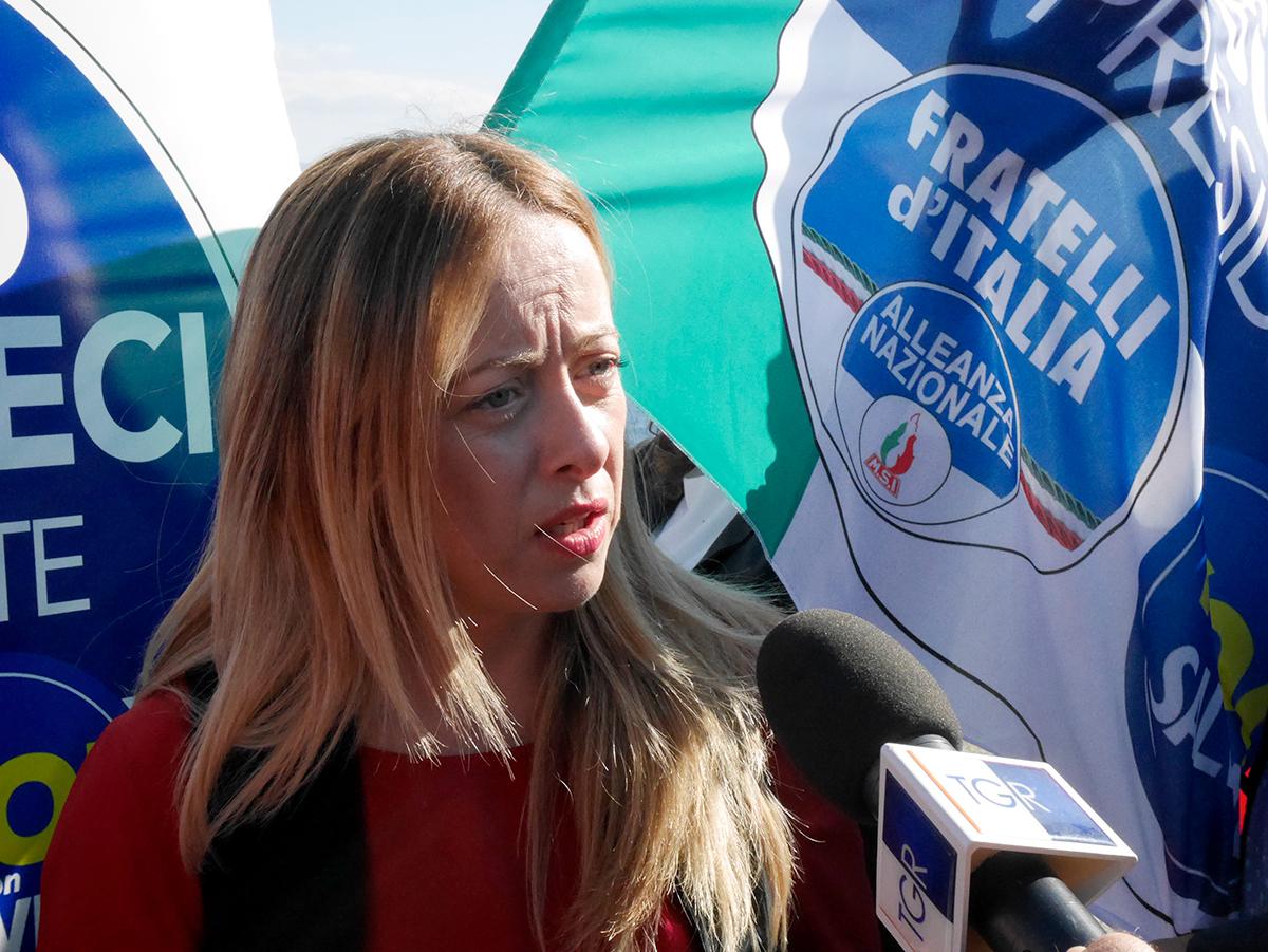 giorgia meloni a maregrosso per sostenere nello musumeci - elezioni regionali messina