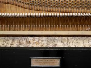 Particolare di un autopiano contenuto nel laboratorio di restauro pianoforti del Conservatorio Corelli - Messina