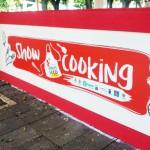 Foto dello stand per lo show cooking del Messina Street Food Fest
