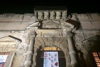 Esterno del monte di pietà durante il sabir fest 2017 - Messina