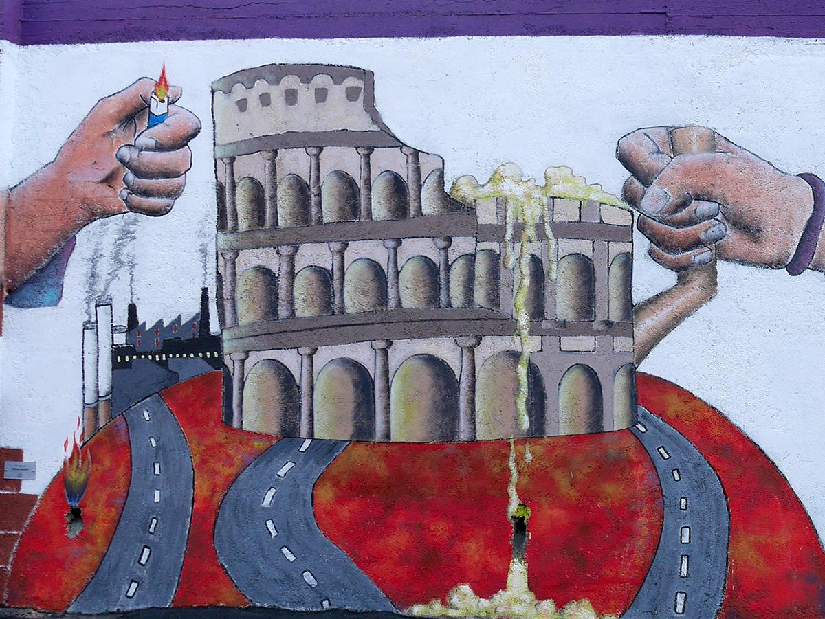 Murales Spazio Gazzi Arte realizzati dagli studenti del Quasimodo e del Corelli - Messina