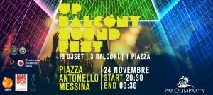 up balcony sound fest messina - evento organizzato in supporto al crowdfunding per il parolimparty