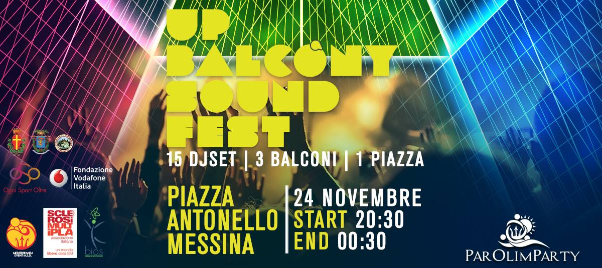 up balcony sound fest messina - evento organizzato in supporto al crowdfunding per il parolimparty