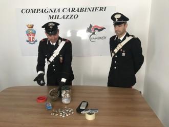 CC Milazzo arresto con droga