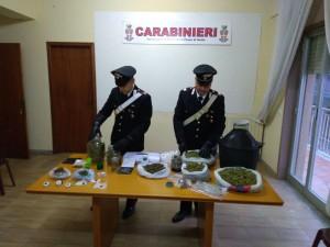 Foto della droga sequestrata ai due fratelli