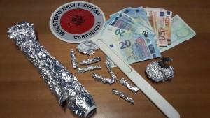 Materiale in sequestro Brolo