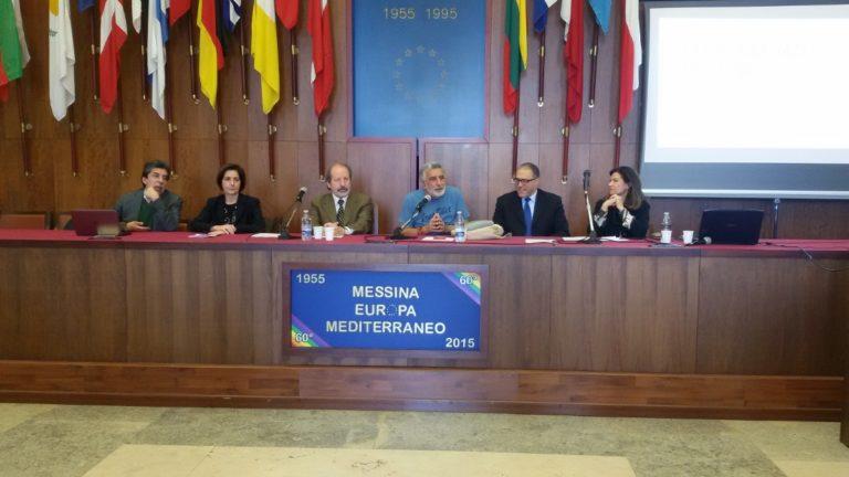 firma della convenzione tra l'istituto jaci e il comune per la realizzazione di percorsi di alternanza scuola lavoro - salone delle bandiere di palazzo zanca - messina