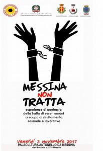 locandina del seminario messina non tratta, contro la tratta di esseri umani