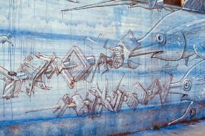 Murales di Blu alla Casa del Portuale, l'assessore Notarianni ne chiede la tutela